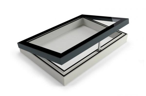 Vlakke lichtkoepel glas Triple HR++ ventilerend extra geïsoleerd D1101114-V