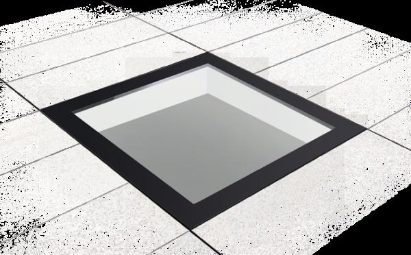 VLAKKE LICHTKOEPEL GLAS BELOOPBAAR 1000X1000 MM D1101116