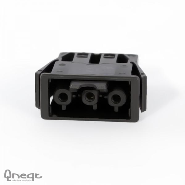 Qneqt chassisdeel 3-polig female zwart zonder vergr.