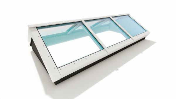 Lichtstraat glas zadeldak met bouwkundig kopschot D1204210-V