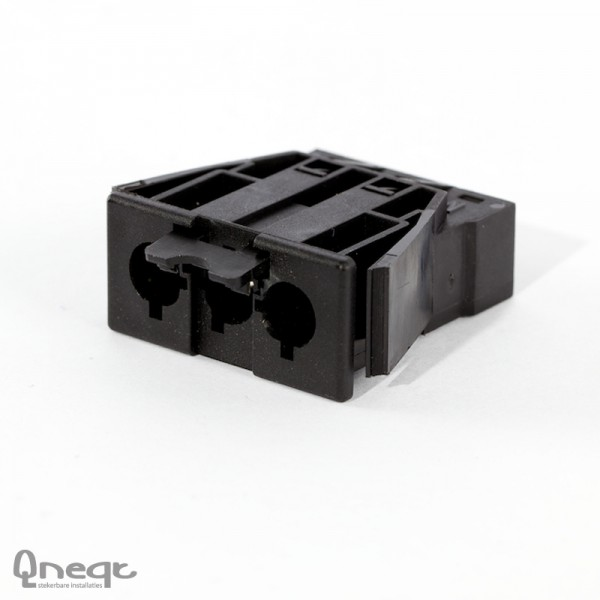 Qneqt chassisdeel 3-polig male zwart zonder vergr.