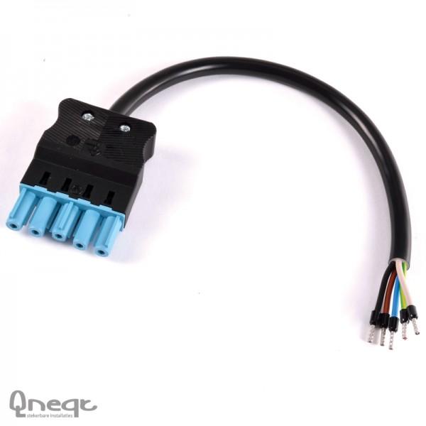 Qneqt ASS AS male 5-polig 5G1.5 PVC Eca L=0,5m PB
